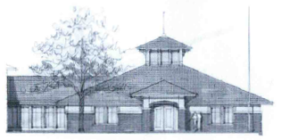 Sketch of the new library building